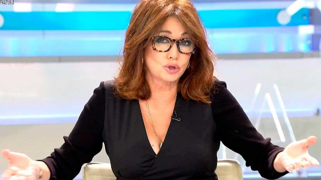 Ana Rosa Quintana enfadada con Bigote Arrocet