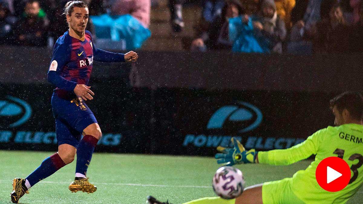 Griezmann salva al Barcelona en el último minuto contra el Ibiza (1-2)