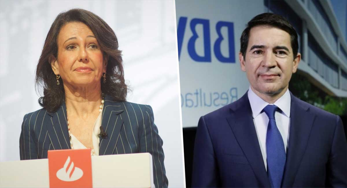 Presidentes del Santander y el BBVA, Ana Botín y Carlos Torres