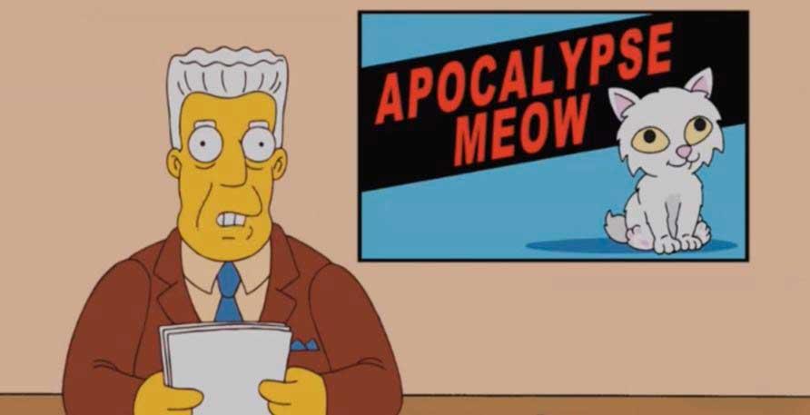 los simpson apocalypse meow