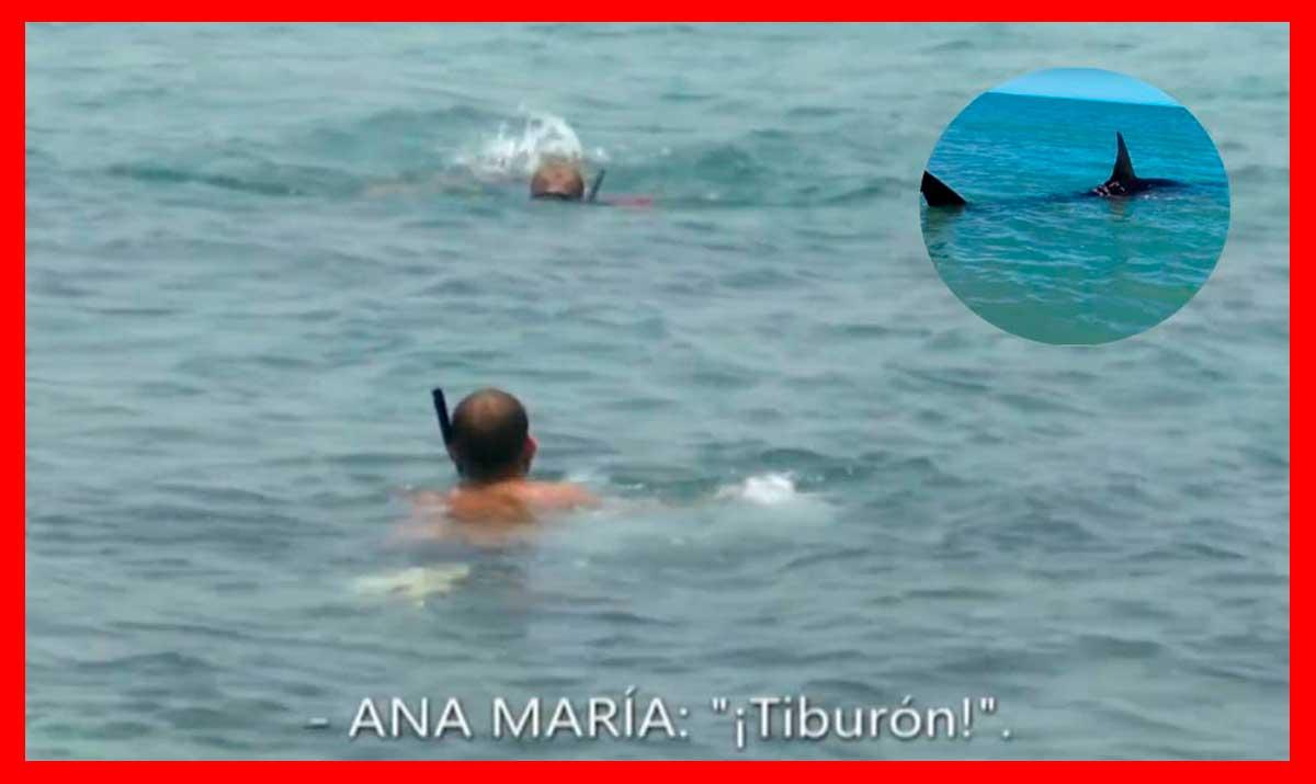 """¡Peligro! Un tiburón acecha a Ana María y Avilés pasa de ayudarla: """"Lo siento pero soy muy joven"""""""