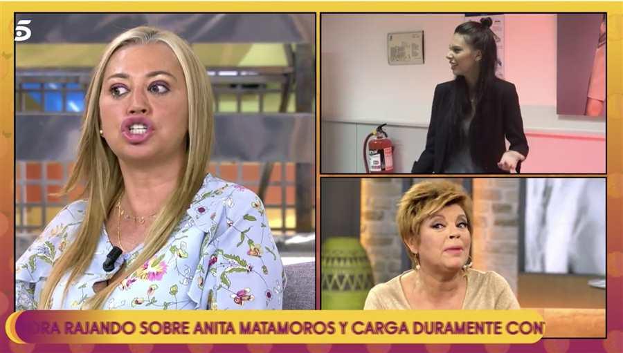 Belén Esteban, muy enfadada con Terelu Campos Telecinco