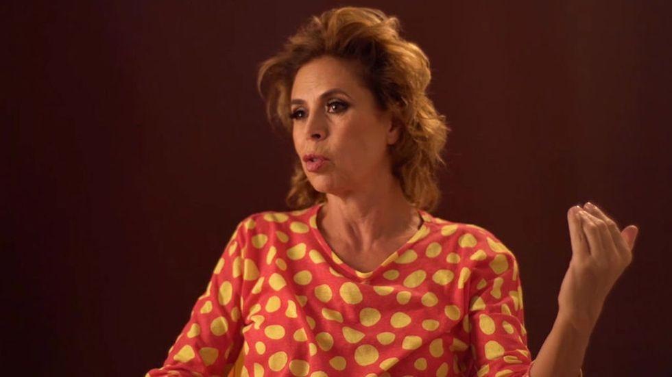 Ágatha Ruiz de la Prada en una entrevista TVE