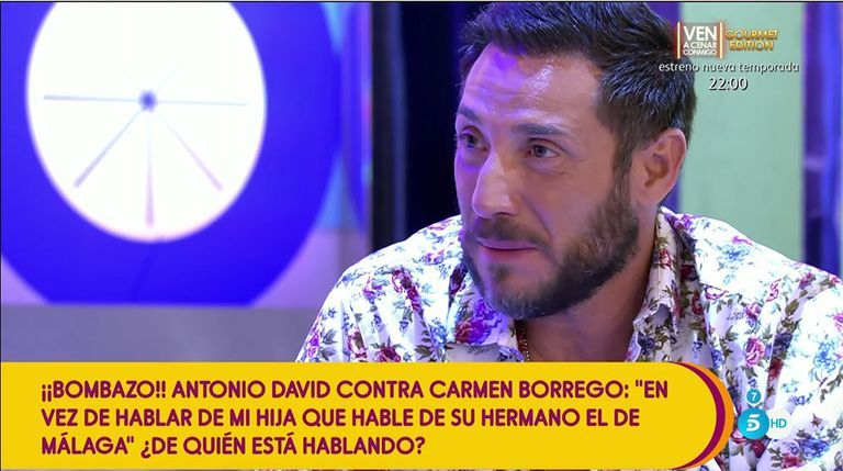 Antonio David Flores en 'Sálvame' Telecinco