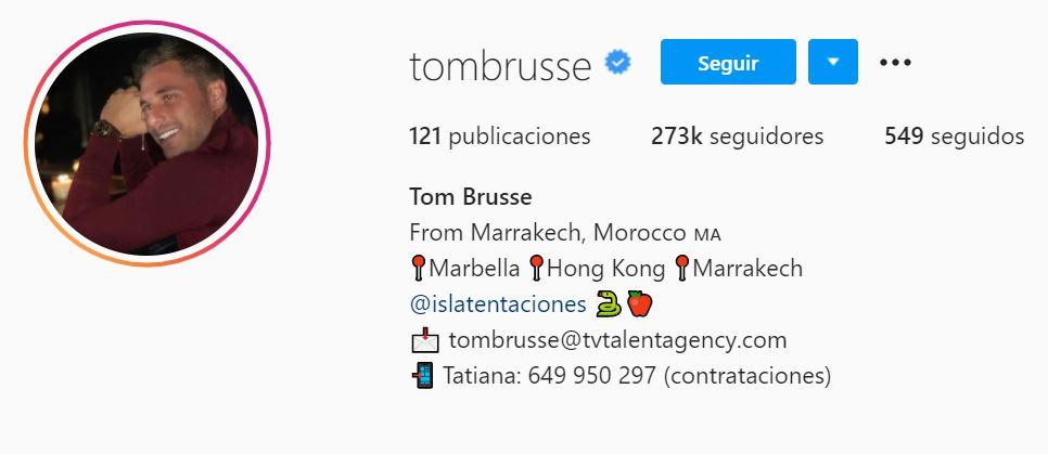 Cuenta Instagram de Tom