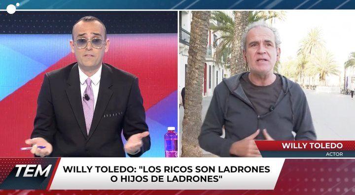 Risto y Willy Toledo a 'Todo es mentira' Cuatro