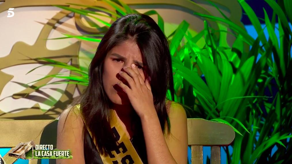 Isa Pantoja llorando en 'La Casa Fuerte 2'