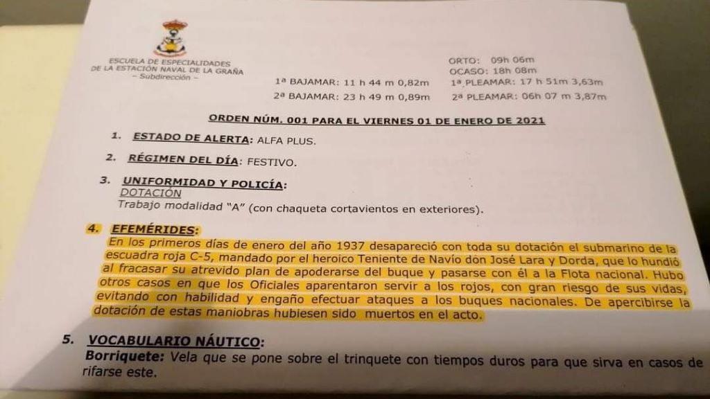 """El BNG exige a la Defensa investigar si la Armada celebró el hundimiento de un barco """"de la escuadra roja"""""""