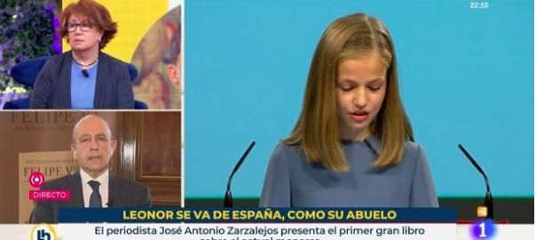 TVE despide a los responsables de un polémico cartel sobre Leonor y la fuga de Juan Carlos I