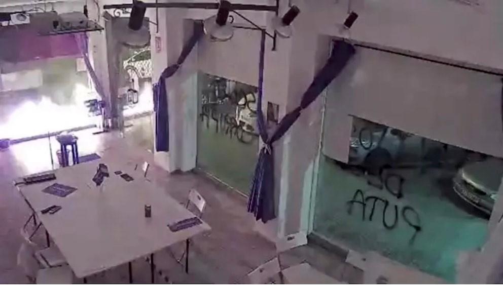 La sede de Podemos Cartagena sufre un atentado con material explosivo